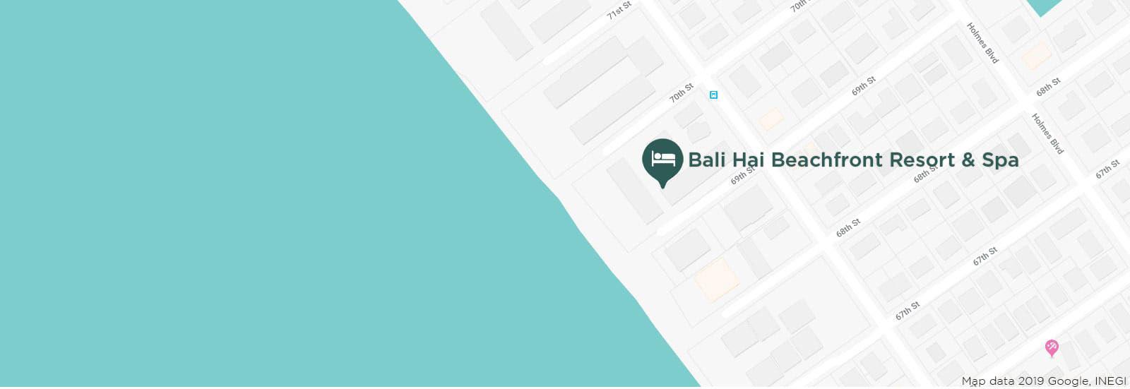 Bali Hai Beach Resort Vacation Rentals Location